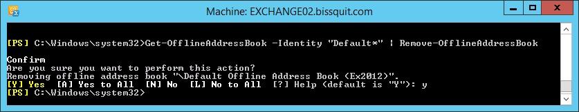 7 - get-offlineaddressbook identity remove-offlinebook
