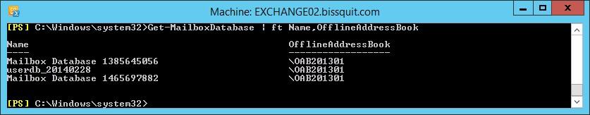 8 - get-mailboxdatabase name offlineaddressbook