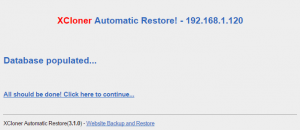 wordpress xcloner site restore 03