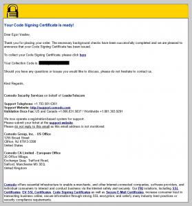code signing sertificate 09