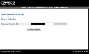 code signing sertificate 10