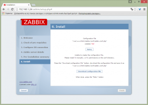 zabbix on debian 8 13