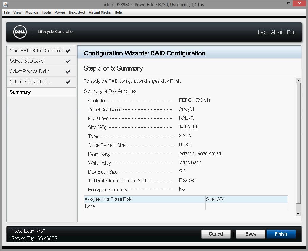 Dell PERC H730 configuring 09