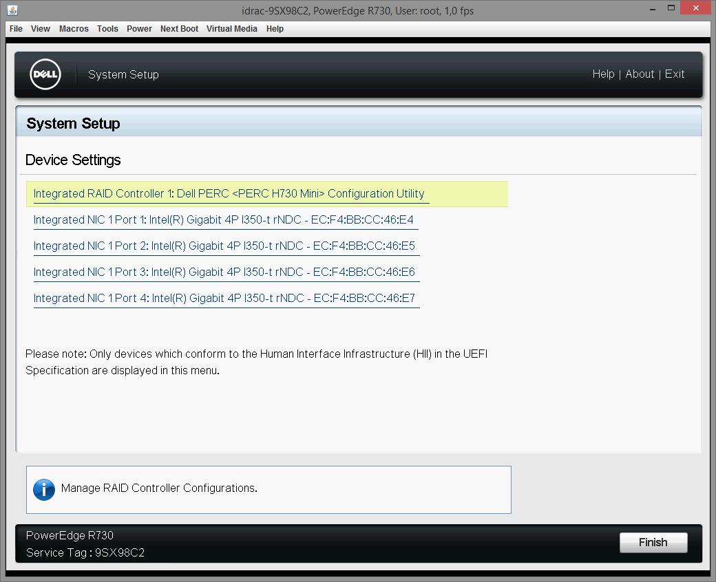 Dell PERC H730 configuring 13