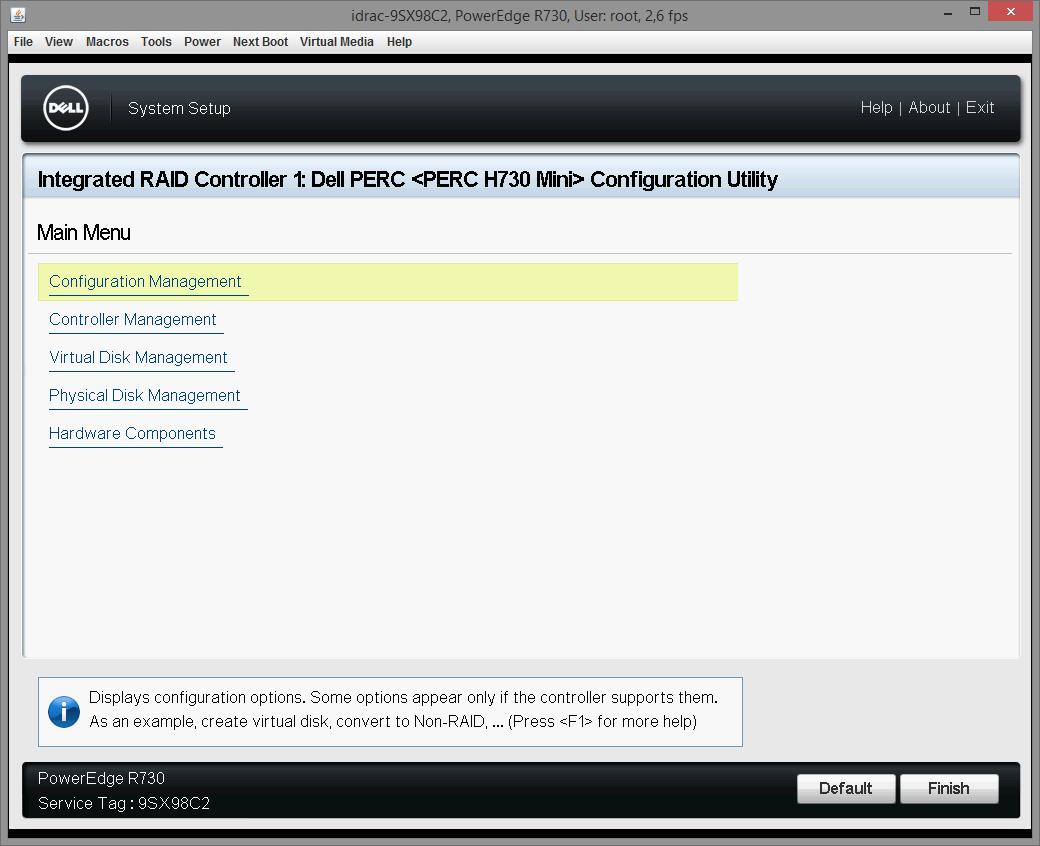 Dell PERC H730 configuring 14