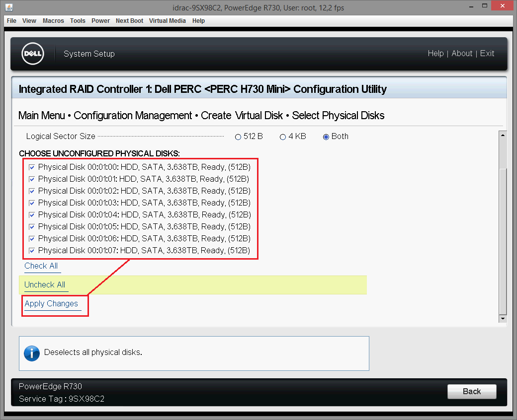 Dell PERC H730 configuring 17