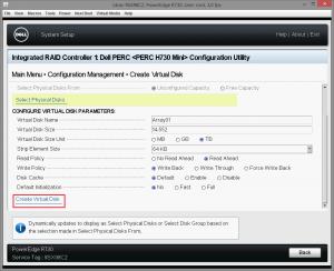 Dell PERC H730 configuring 18