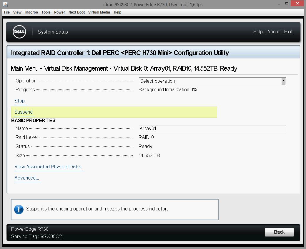 Dell PERC H730 configuring 19