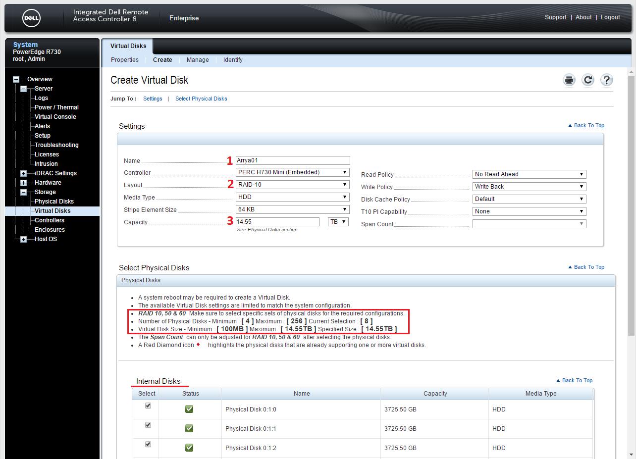 Dell PERC H730 configuring 21