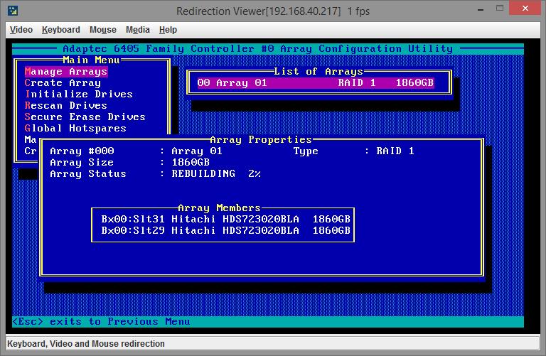 adaptec 6405 raid manage 14