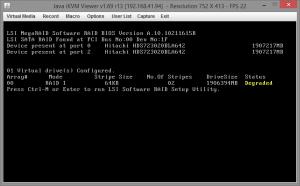 Замена диска RAID на Supermicro X9SCL-F 01