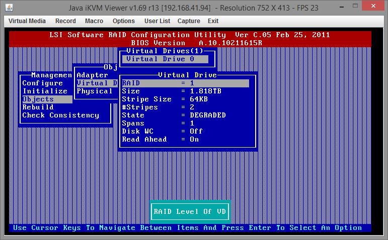 Замена диска RAID на Supermicro X9SCL-F 02