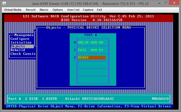 Замена диска RAID на Supermicro X9SCL-F 04