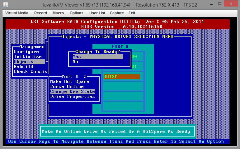 Замена диска RAID на Supermicro X9SCL-F 07