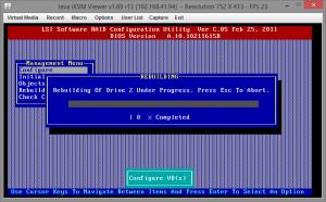 Замена диска RAID на Supermicro X9SCL-F 08