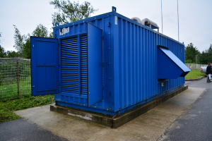 Дата-центр IMAQLIQ - дизель-генератор сбоку